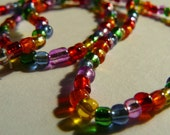 SALE: RAINBOW, a glass bead necklace