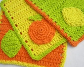 Citrus Crochet Dish Cloth Set