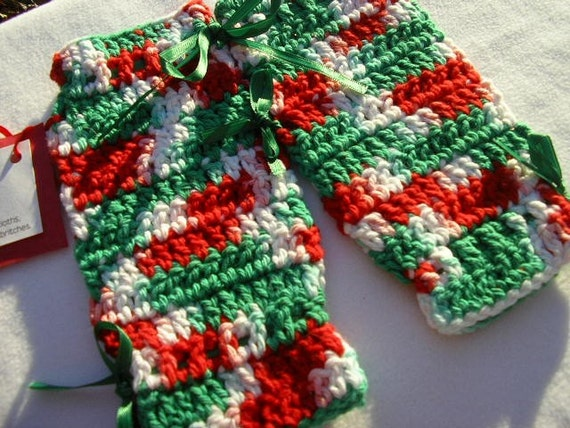 Christmas Dishcloth Britches