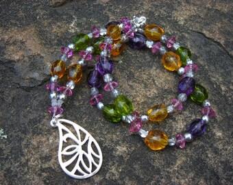Silver Paisley Drop Necklace