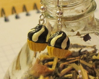Swirl Cupcake Earrings