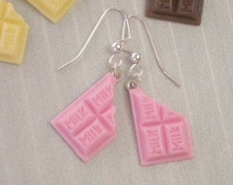 Strawberry Chocolate Bar Earrings