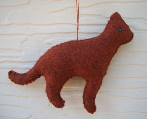 Miniature Stuffed Cat  Doll or Ornament - Brit