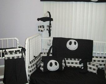 New Nightmare Before Christmas JACK baby Crib Bedding Set custom made to order
