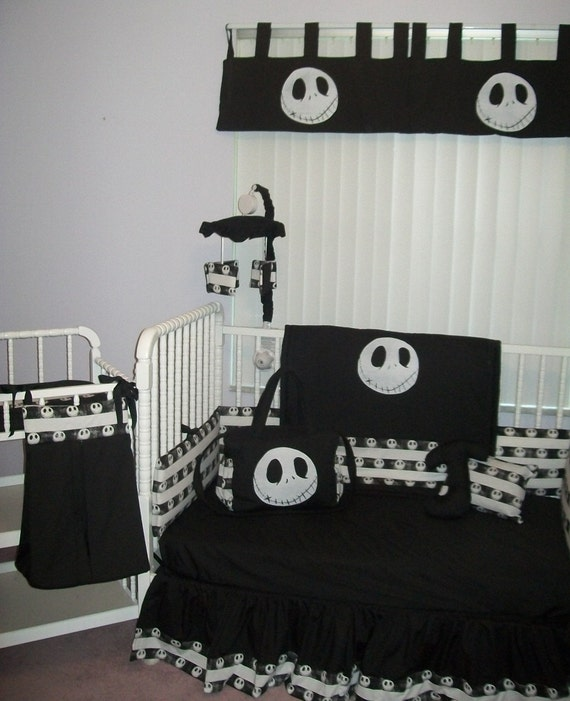 Nightmare Before Christmas Goth Look Bedding by GothBabies