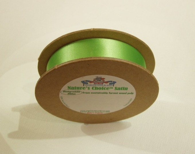 Satin Ribbon (several colors) 1 inch width, non-fray cut edge 30 ft Charles Clay Nature's Choice Bio Degradable Ribbon, made in England,