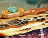Rustic and Contemporary Manzanita and Cherry Candleholder----Home Decor---Wooden Centerpiece