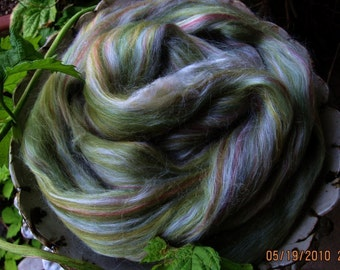 Greens Merino Tussah Silk Blend Ashland Bay Lux Roving