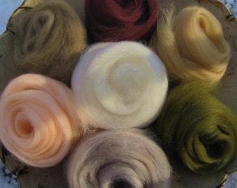 Ashland Bay Merino 64s Neutrals Skin and Earth Tone Naturals
