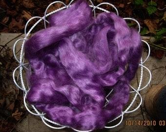 Lavender Mohair Top Roving