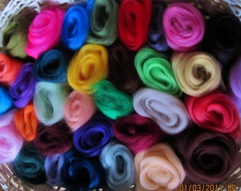 20 30 or More Ashland Bay Merino Color Sampler Spinners Felters and Nuno Craft