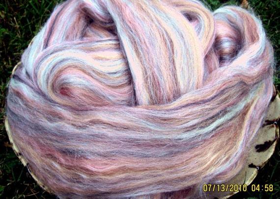 Rose Merino Tussah Silk Blend Ashland Bay Lux Roving