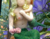 "Needle Felted Mer-mother and Child.  ""Homeschool"""