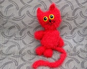 Adorable Bobble Head Kitty Mr. Red