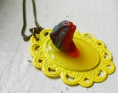 Dinosaur Necklace - Faux Taxidermy - Mounted Head