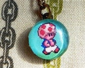 Necklace - 8bit Toad
