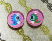 8 bit Earrings - Bubble Bobble