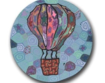 Hot Air Balloon Polymer Clay Cane Silly Milly large