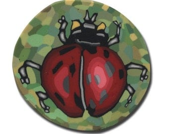 Lady Bug- Polymer Clay Silly Milly Cane- Small