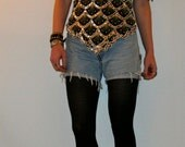 AMAZING Balmain-esque Sequined & Beaded Silk Tunic- Size L