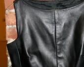 Gorgeous Black Leather Vintage Top- Size US-4, EUR- 36