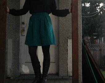 SALE-Amazing Vintage Checker Weave Cowl Neck Blouse-Size S/M