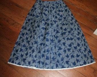 Beautiful Printed Knife-Pleat Skirt-Size S