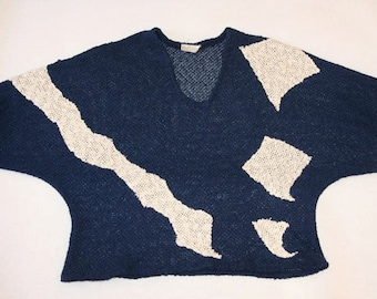 SALE- Totally 80's Vintage Knit Sweater- Size M/L