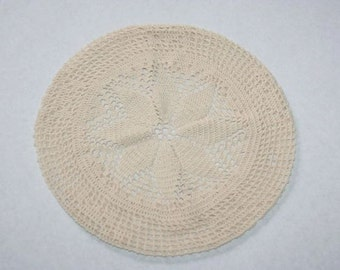 Vintage Boho Crocheted Beret