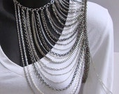 Arm Necklace in Silver by Ashlee Collection on Etsy