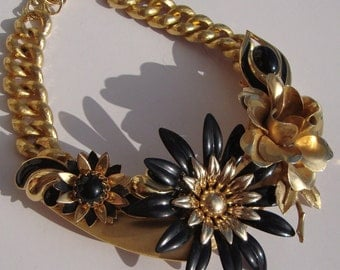 Reinvented Vintage Necklace by Ashlee Collection on Etsy