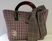 Purple Tweed Carry-All Handbag