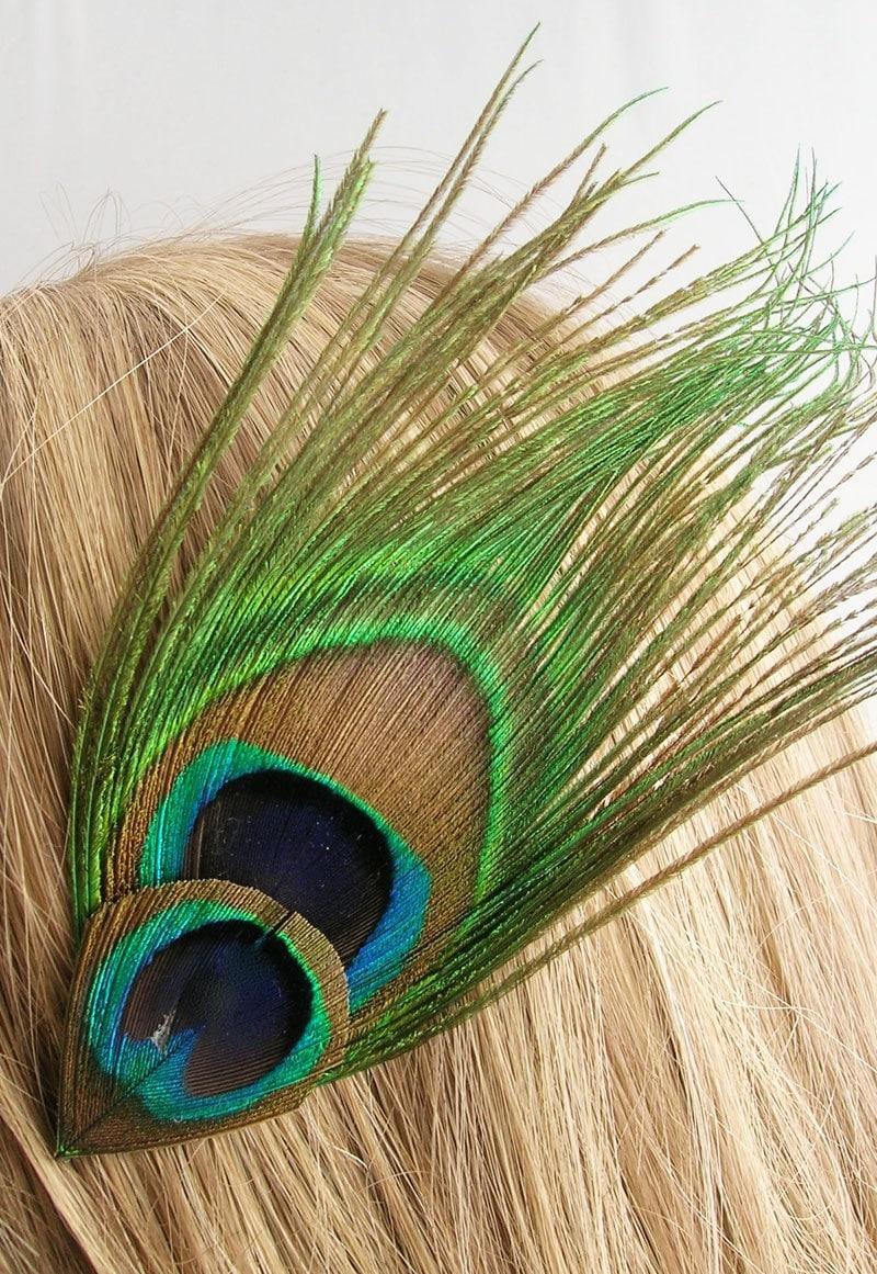 Single Peacock Feather Clip Art Peacock feather hair clip