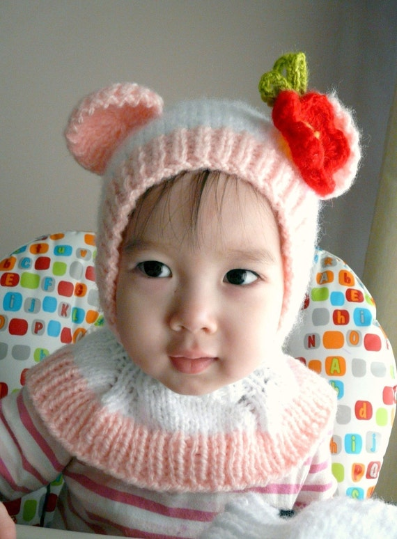 18-36months Beauty Bear Coverall Hat #100