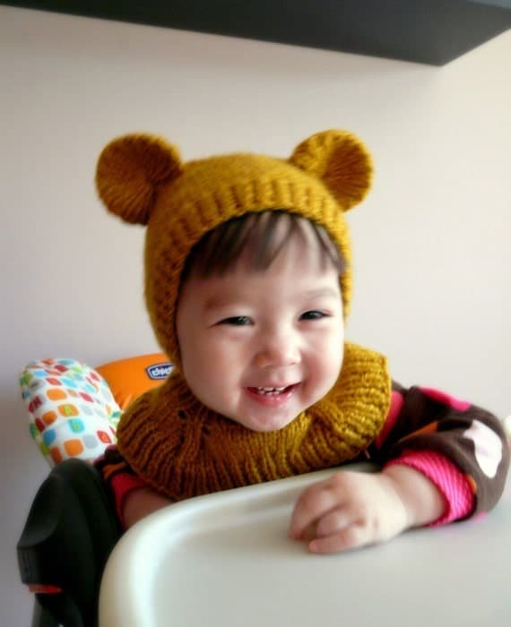 Honey Bear Coverall Hat 12-24months