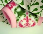 Fleece Soaker Cloth Diaper Cover - Parisian Wallpaper  (S, M, L)
