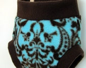 Damask Fleece Soaker Cloth Diaper Cover - Luxury in Damascus (S, M, L)