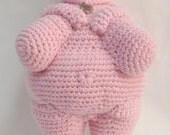 Crochet Mother Goddess Venus of Willendorf Plush Amigurumi Doll Pastel Pink Art Soft Sculpture Big 9 x 4.2 inches