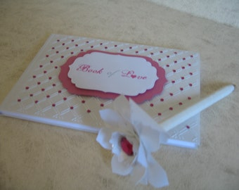 One  Made to Order Book of Love Wedding Guest Book with Pen - Book of Love