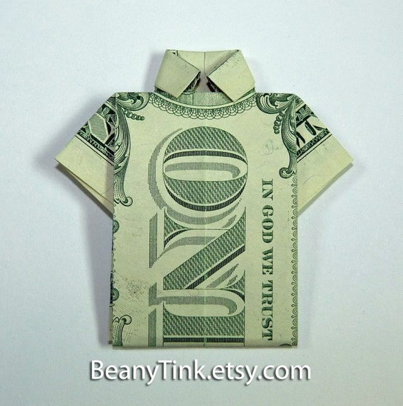 Dollar Origami Polo Shirt