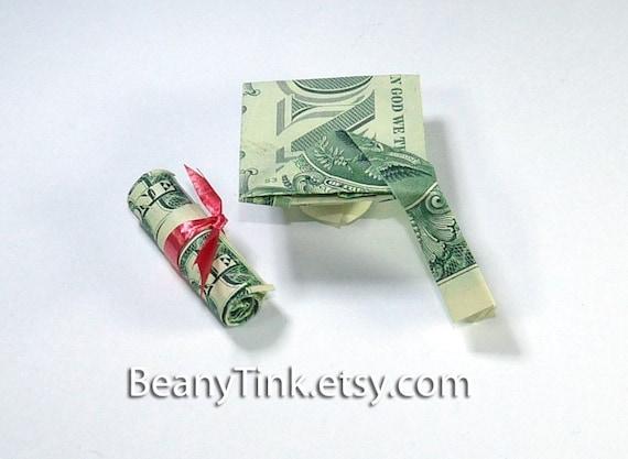 Items similar to Dollar Origami - Graduation Mortarboard ... - photo#5