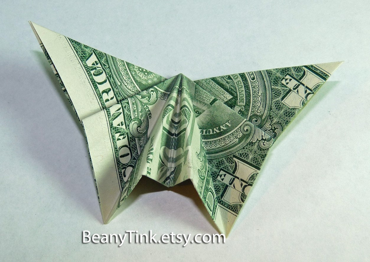 Dollar Origami Straight Wing Butterfly by BeanyTink on Etsy - photo#44