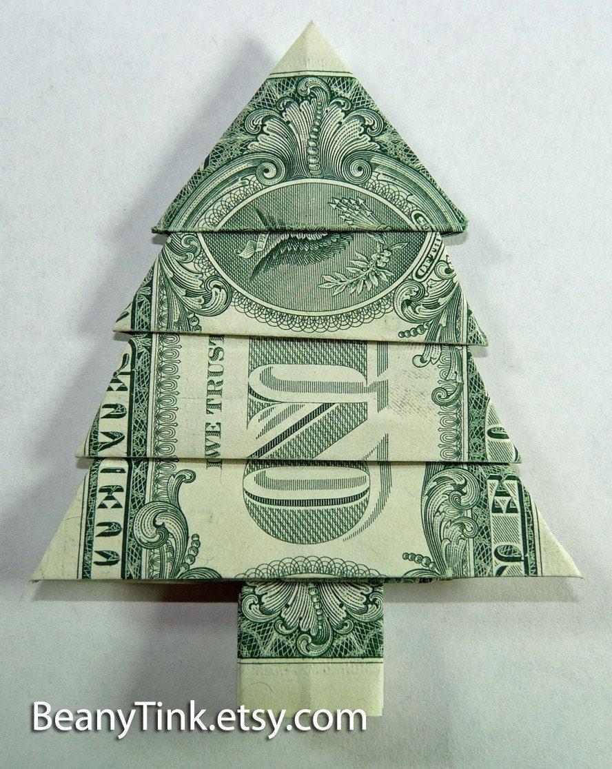 Dollar Origami Pine Tree by BeanyTink on Etsy - photo#8