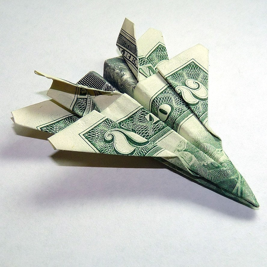 Dollar Origami Two Dollar Jet Fighter F-18 Hornet by BeanyTink - photo#35