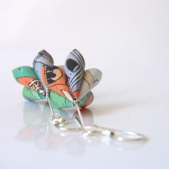 Paper earrings - Mantua Lotus