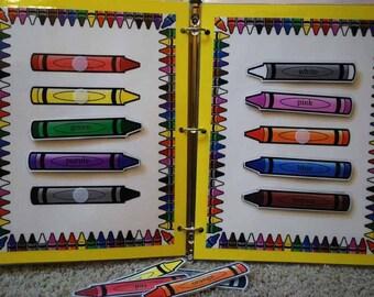 Crayon Colors Printable Game