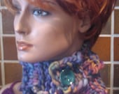 Sunset Infinity Scarf with Button