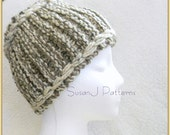 Instant download - Pattern -   Winter Headband / Neck warmer - Thick  Knit  - PDF