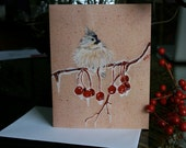 Titmouse in Winter greeting card