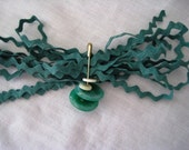 Cool Green Vintage Rick Rack & Button Destash Set--Sewing, Scrapbooking, Crafts, Jewelry, Doll Clothes